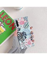 Herbests Compatible con Samsung Galaxy Note 10 Funda de Silicona Suave Funda de Flores Elegante Carcasa Diseño Ultra Delgada Cubierta TPU Bumper Antishock Case Cover, Rosa