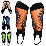 Rawxy Football Soccer Shin Guard with Ankle Protection Exceptional Flexible Soft Light Weight - for Adult Junior Youth Boys Girls