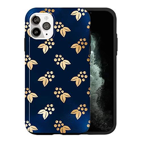 iPhone 12 PRO MAX Custodia, Golden Christmas Decoration LS026_3 Custodia Per iPhone 12 PRO MAX Protettiva, Gorgeous Phone Cover, Popular Trendy Fashionable [Guscio Resistente In Plastica Dura]