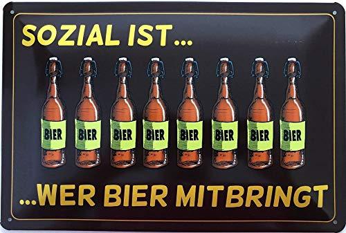 Deko7 blikken bord 30 x 20 cm 8 Bier Decken die dagbenodigdheden aan vitamine C