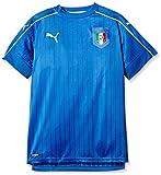 PumaMaglietta da Bambino, Replica Maglia FIGC Italia (Partite in casa), Bambini, Trikot FIGC Italia Home Shirt Replica, Team Power Blue-White, 176