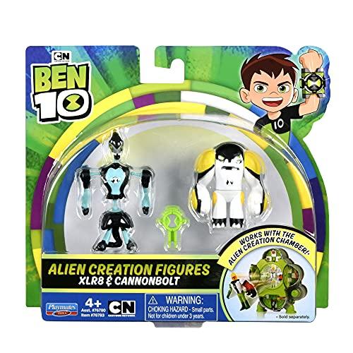 Ben 10 Alien Creation Figures - XLR8 & Cannonbolt