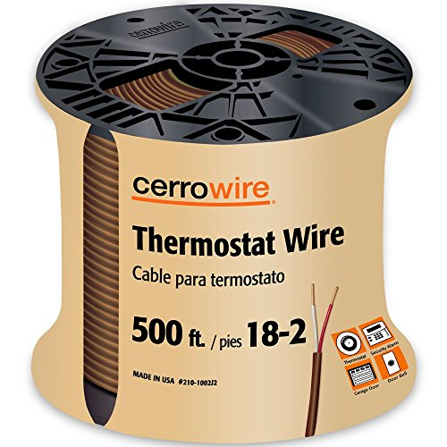 CERRO 210-1002J2 500-Feet 18/2 Thermostat Brown Wire, 500-Foot, 18-Gauge, 2 Ground
