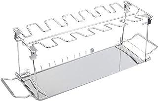 Support de Cuisses de Poulet, Espace pour 14 Cuisses - Support de Cuisses de Poulet en acier Inoxydable, avec égouttoir