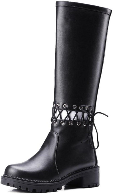 AicciAizzi Women Fashion Checkered Mid Calf Boots with Zipper