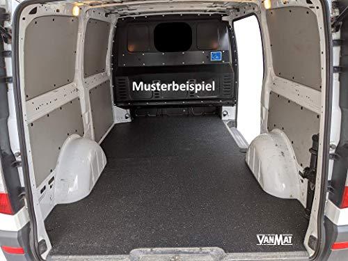 Pickupmatte VanMat Antirutschmatte kompatibel mit/geeignet für Mercedes Sprinter Kastenwagen ab 05/2006, R2 Radstand 3.665 mm