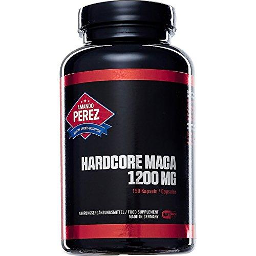 Hardcore Maca 1.200 mg pro Einnahme • 150 Giant Caps • Hochdosiert • Made in Germany