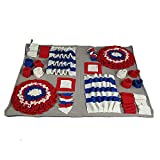 ppaphh Tappeto Cane Sniffing Tappetino Dog Sniffing Pad Tappetino Snuff Training Puppy Tappetino per Cuccioli Dog Snuffle Treat Mat Dog Treat Mat Red,80 * 100cm
