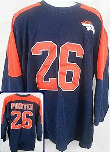 Majestic Denver Broncos NFL Clinton Portis # 26 Mens Vintage Jersey Navy Adult Sizes (2XL)