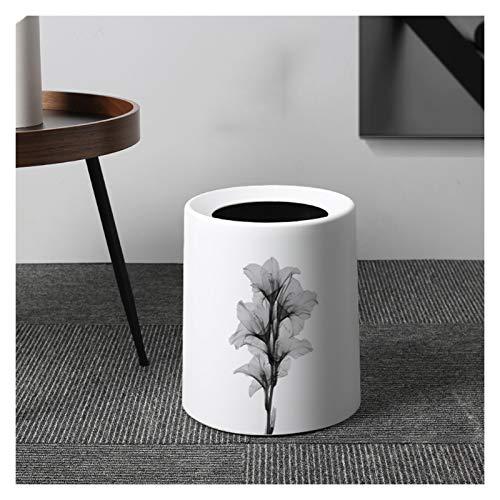 Xiaoli Cubo de Basura Doble Creativo de plástico for el hogar sin Cubrir la Basura de la Cubierta Puede diseñar Basura de contenedores de Basura, 2.1 galones / 3.1 galones Papeleras (Color : A-12L)