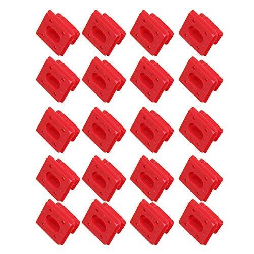 SGerste Armaturenbrett-Clips für Armaturenbrett-Verkleidung, Rote Einlage, Ösen, Halterung, Clip für BMW E46 E65/E66 E83N, 20 Stück