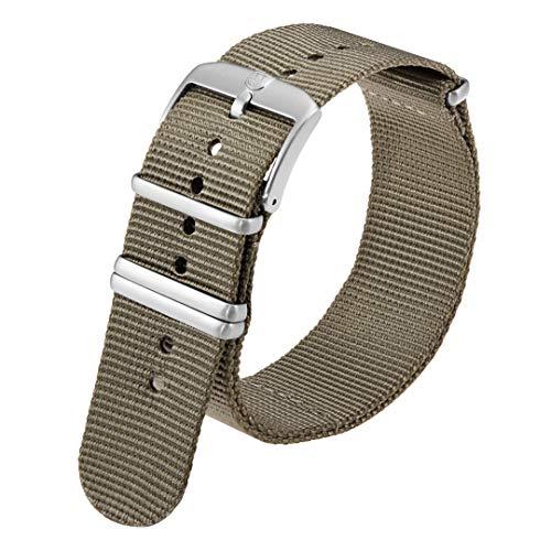 Luminox Uhrenarmband für Herren, grau, NATO-Nylon, Edelstahl, 4 Schlaufen