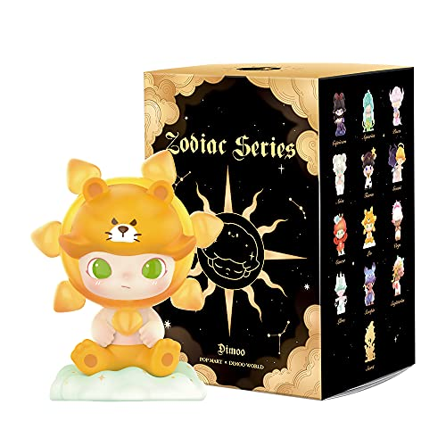 POP MART Dimoo Zodiac Series-3PC Blind Box Toy Box Bulk Popular Collectible Random Art Toy Hot Toys Cute Figure Creative Gift, for Christmas Birthday Party Holiday