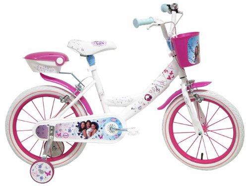 Disney Violetta Vélo Mixte Enfant, Rose/Blanc, 16\