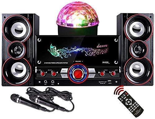 Lautsprecher, Soundbar mit Subwoofer Bluetooth Wireless 360 & Grad Surround 2-Mikrofone Unterstützung AUX TF USB-Eingang für