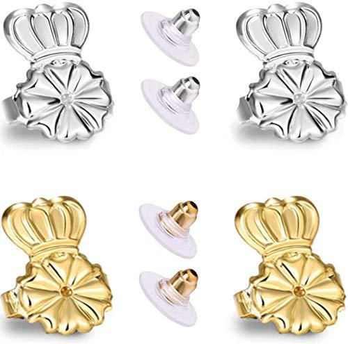Original Magic Earring Backs For Earrings   Ear Support Earing Lifters   Lifts Heavy Back Lobe Backing Bax   Secure Earlobe Bullet lifter