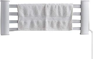 WHJ@ Calientatoallas,Toallero eléctrico,Baño Blanco eléctrico radiador Calentador de toallero Recto radiador 55 * 21.2 cm, Fuera de la Pared 10.5 cm