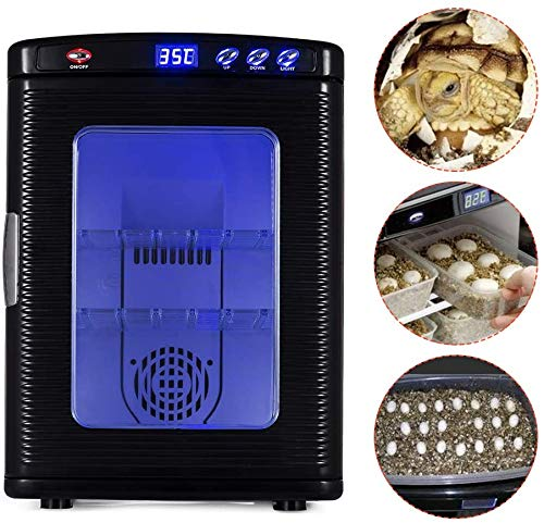 TOPQSC Reptile Incubator,Intelligent Automatic Incubator, Reptile Egg Incubators, Keeping and Breeding Thermostat, Thermostat Turtle Snake Breeding Hatchery,Cooling and Heating 5°C to 60°C. 25L