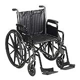 McKesson Wheelchair Steel 20'W x 16'D Swing-Away Footrest 146-SSP220DDA-SF