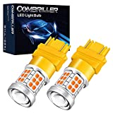 Combriller 3157 LED Bulb Amber Yellow Super Bright, 3056 3156 3057 3157 led bulb for led reverse lights turn signal bulb brake light bulb tail light bulb parking light bulb, pack of 2
