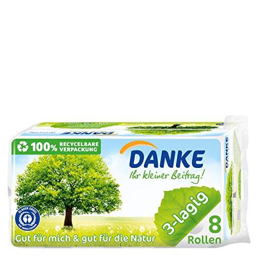 Danke Toilettenpapier, 2er Pack (2 x 8 Rollen)