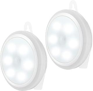 センサーライト 人感 室内 電池式 2020改良版 直立配置 3Mテープ 夜间 LED小型 配線不要 ワイヤレスライト 昼白色(2個セット)