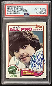 Mark Gastineau Signed 1982 Topps #167 Football Card Autograph NY Jets - PSA/DNA Certified - NFL Autographed Football Cards