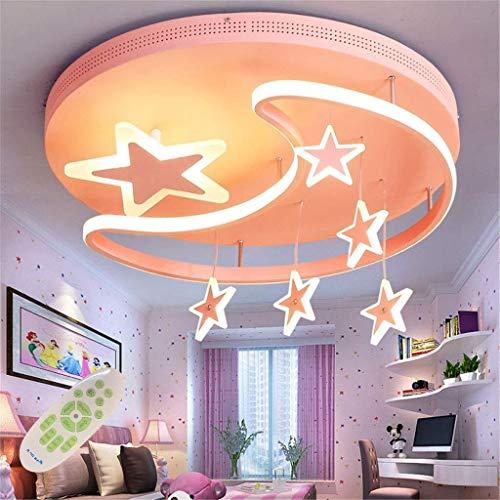 Iluminacion colgante Lámpara colgante industrial De los niños LED lámpara de techo de la lámpara de la lámpara colgante lámpara de techo moderna creativa hierro acrílico estrella luna nube infantil lá