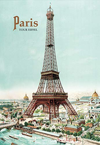 PLAQUE METAL 20X15cm AFFICHE RETRO TOUR EIFFEL PARIS France