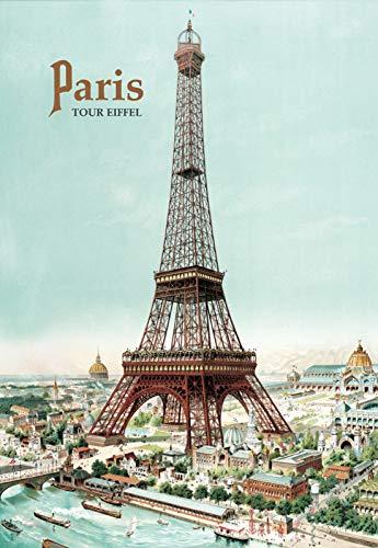 PLAQUE METAL 20X15cm AFFICHE RETRO TOUR EIFFEL PARIS France