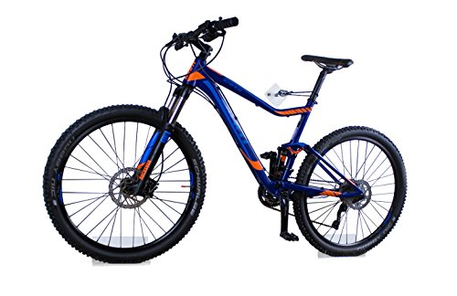 Fahrrad Wandhalterung für Mountainbike von trelixx aus Plexiglas® Acrylglas, platzsparende Fahrradaufbewahrung, Radhalter Wandmontage, 1.000fach verkauft