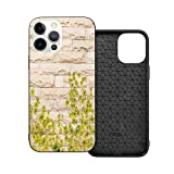 2021 New Cars Slim Fit Compatible with New iPhone 12 Case,Ground Creepy Climbing Wood Ivy Plant Leaf on Brick Wall Nature Invasion,Flexible Soft TPU Case Design for iPhone 12 Mini (5.4 inch)