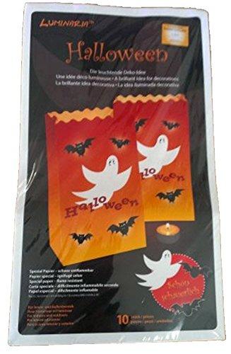 6x Halloween Lichtertüte Deko Laterne Lichttüte Leuchttüte Fasching Windlicht