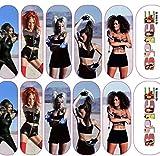 Nail Gang Pop culture hip hopccartoon nail decals trending pop art Cardi wap rastafari nail wraps Dc comics Wonder Woman superhero nail art stickers Disney cartoon Mickey Mouse cartoon nail wra (8)