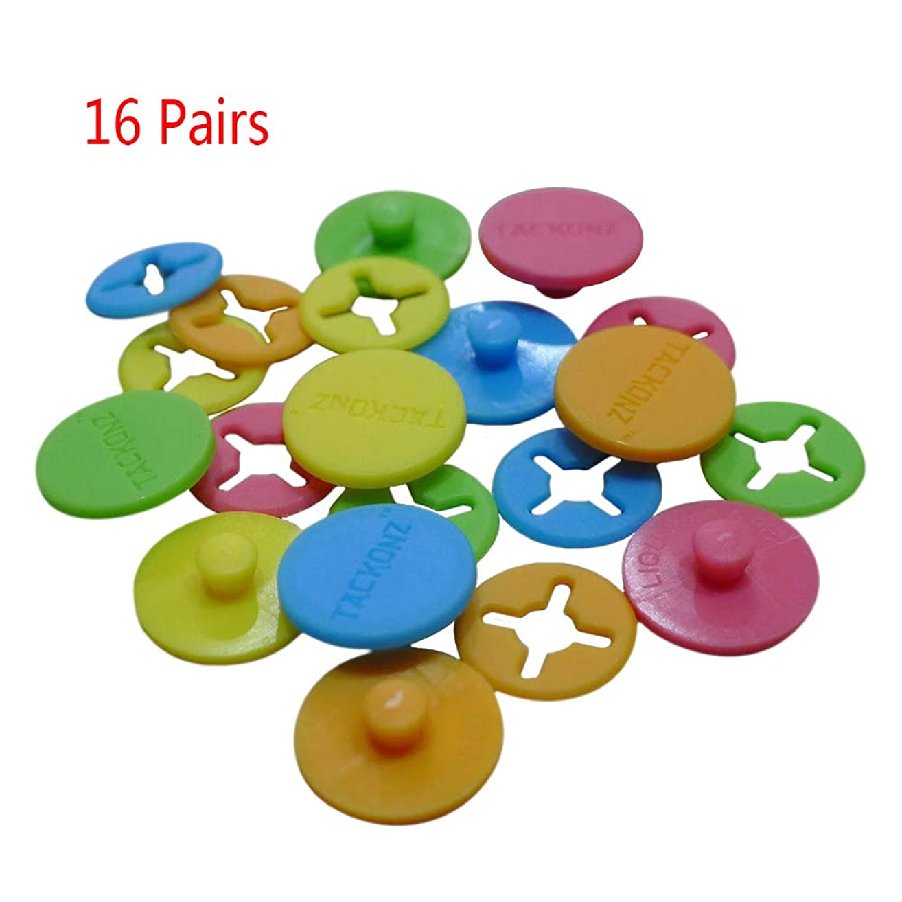 Whale GoGo 16 Pcs Running Bib Clips Fixing System Race Number Fasteners/Holders, Random Color