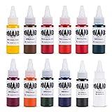 Dynamic Color Tattoo Ink Set 12 Colors 1oz Size Colors OG...