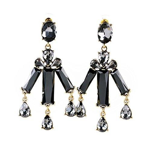 Orecchino RQZQ Shopping Online Orecchini indiani Stile conciso Shining Zircon Bar acrilico Lampadari pendenti orecchio