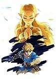 T Poster Link & Zelda Zelda Breath of The Wild (B) - A3