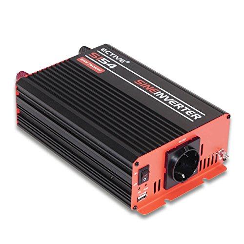ECTIVE 500W 12V auf 230V SI-Serie reiner Sinus Wechselrichter in 7 Varianten: 300W - 3000W
