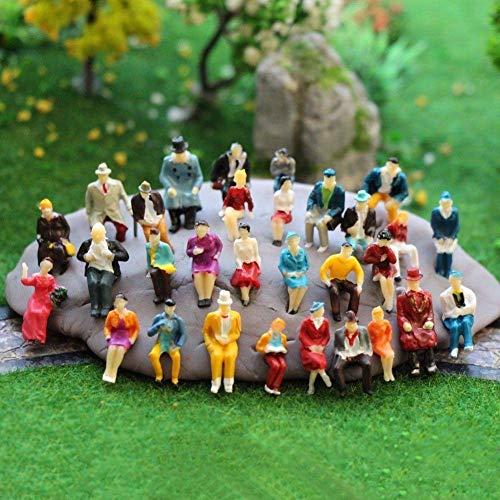MEJOSER 100 STK Modelleisenbahn Figuren H0 1:87 sitzende Figuren Modellbau Miniaturen (sitzende Figuren)