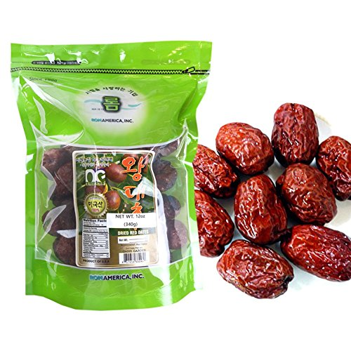 BIG SIZE 100% Natural Organic Dried Dates Snacks Fruit Jujube 12 oz 대추