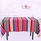 TRLYC Handmade Mexican Cotton Blanket Wedding Table Cloth Mexican Style Blanket Travel Camping Baby Play Bed Cover 145X260cm