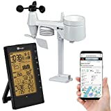 Logia 5-in-1 Indoor/Outdoor Weather Station Remote Monitoring System w/PC Connect   Temperature, Humidity, Wind Speed/Direction, Rain & More   Wireless Backlit LCD Screen Forecast Data, Alarm, Alerts