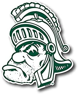 """Nudge Printing NCAA Vintage and Popular Car Decals from (Michigan State University, Gruff Sparty X - Large: 13.75"""" Wide x 16.75"""" Tall)"""