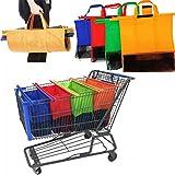 Joybuy bolsas de carrito de la compra carrito de la compra reutilizables ECO Bolsas Con Bolsa De Aislamiento fría, 4bolsas set