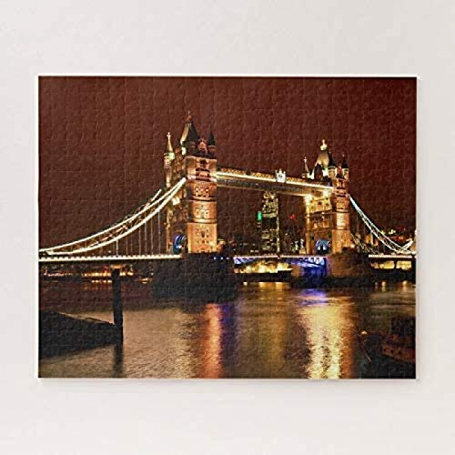 Tower Bridge & London at night, England (UK) 500-piece puzzles Artwork Challenging Jigsaws Fun Game Toy For Men To Use Whole Brain Functions