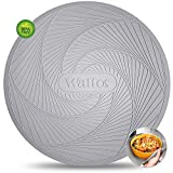 Silicone Microwave Mats, Walfos Heat Resistant Multi-Purpose Microwave Trivet Mat, Non-Slip, BPA Free and Dishwasher Safe, Perfect for Microwave, Oven and Hot Pan