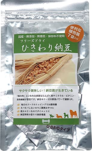 フリーズドライ ひきわり納豆(7袋入) 国産・無添加 犬用おやつ ドッグツリー dogtree