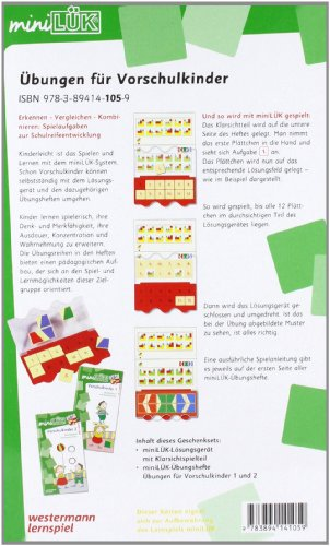 miniLÜK-Sets: miniLÜK-Set: Übungen für Vorschulkinder: Erkennen – Vergleichen – Kombinieren: Spielaufgaben zur Schulreifeentwicklung - 2