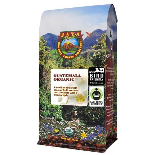 Java Planet, Organic Coffee Beans, Guatemalan Single Origin, Fair Trade, Gourmet Low Acid Medium Roast of Arabica Whole Bean Coffee, Certified Organic, Smithsonian Bird Friendly Certified, 1LB